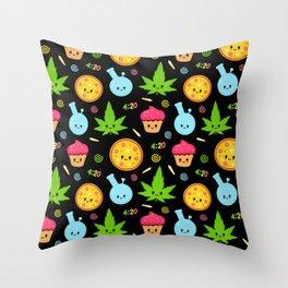 Sweet 420 Throw Pillow