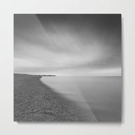 Aldeburgh Beach, towards Sizewell, Suffolk Metal Print