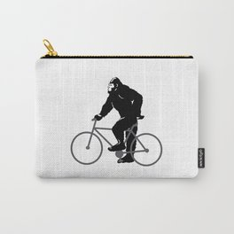 Bigfoot  riding bicycle Carry-All Pouch