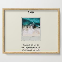 Small Emotional Dictionary: Sea Serving Tray