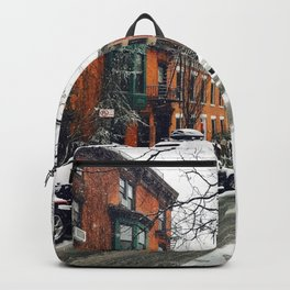 Brooklyn New York City Snow Showers Backpack