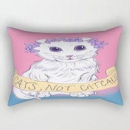 Cats, Not Catcalls Rectangular Pillow