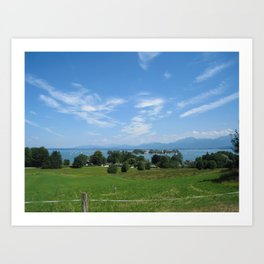 View over Chiemsee Art Print