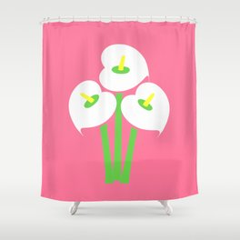 Calla Lily Bouquet (Pink) Shower Curtain