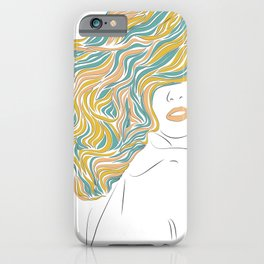 Woman Hairstyle #1 iPhone Case