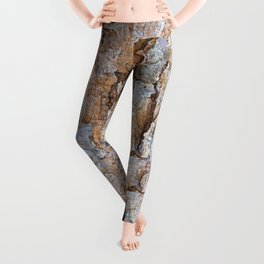 Pine bark textures Leggings