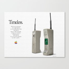 1987 iphone advert 2 Canvas Print