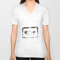 tape V-neck T-shirts featuring TAPE by Michela Buttignol