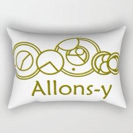 Allons-y Golden Gallifreyan- Doctor Who Rectangular Pillow