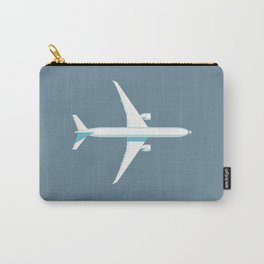 777 Passenger Jet Airliner Aircraft - Slate Carry-All Pouch