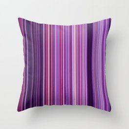 Pink Purple Stripes Throw Pillow