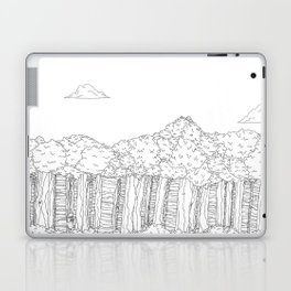 BigFoot Forest (Black and White) Laptop & iPad Skin