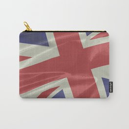 Silk Union Jack Flag Closeup Carry-All Pouch