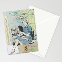 I Say Bad Words - Vintage Collage Stationery Cards