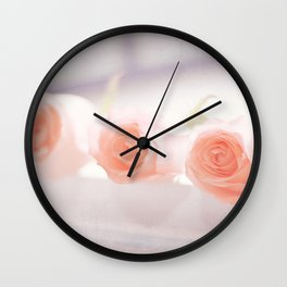 Roses by the letch Wall Clock
