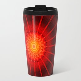 Mandala red heat Travel Mug