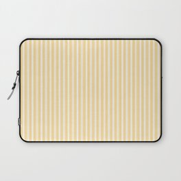 Classic Small Yellow Butter French Mattress Ticking Double Stripes Laptop Sleeve