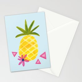 Tropical Watercolor Pineapple Stationery Cards