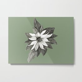 Florida Flower with Green Background Metal Print