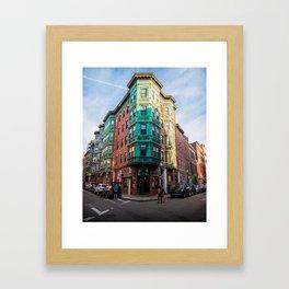 The Old Style - North End Boston Massachusetts Framed Art Print