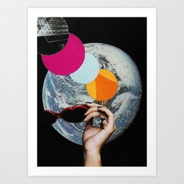 The World Is A Girl Art Print