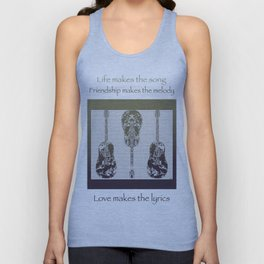 Faded Guitars Unisex Tank Top