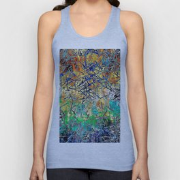 Modern Etching Abstract Design Unisex Tank Top