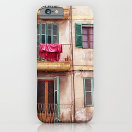 Mallorca house with balconies iPhone Case