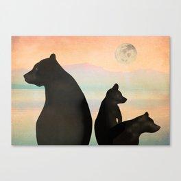 Sunset Bears Canvas Print