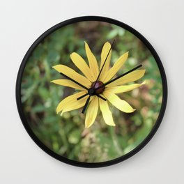 Vintage Yellow Flower Wall Clock