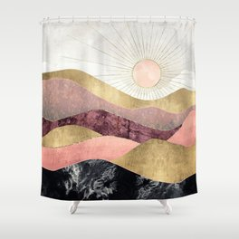 Blush Sun Shower Curtain