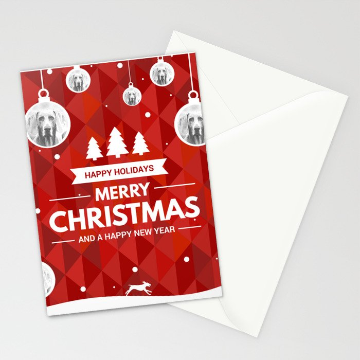 WEIMARANER CHRISTMAS ORNAMENTS Stationery Cards by bluweimdesigns ...
