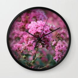 Playful Hot Pinks Wall Clock