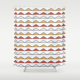 Hot Triangles  Shower Curtain