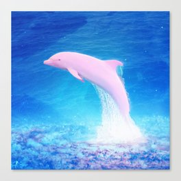 GALAXY DOLPHIN Canvas Print