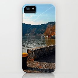 Sunny afternoon at the harbour | landscape photography iPhone Case