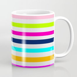 Modern neon colors geometrical whimsical stripes Coffee Mug