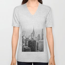 NYC Skyline Unisex V-Neck
