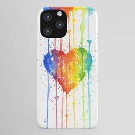 Rainbow Heart Watercolor iPhone Case