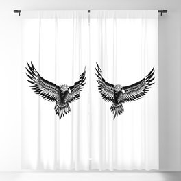 Wild eagle ecopop Blackout Curtain