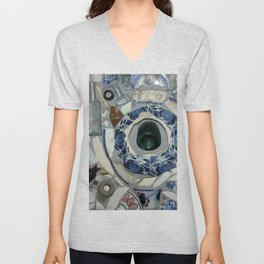 Glass Bits and Pieces Unisex V-Neck