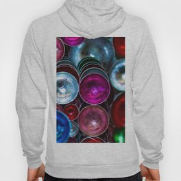 Coloured Metal Coated Cups Hoody