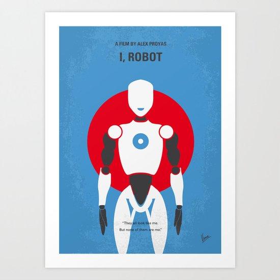 No275 My I ROBOT minimal movie poster Art Print