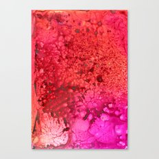 Red to pink spattered Canvas Print