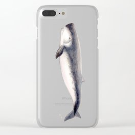 Pygmy sperm whale Clear iPhone Case