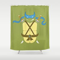 leonardo dicaprio Shower Curtains featuring Leonardo by Laz Llanes