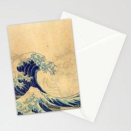 Hokusai parchment Stationery Cards