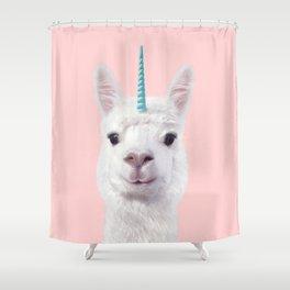 ALPACA UNICORN Shower Curtain