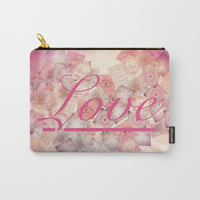 Love Letter Abstract Heart Design Carry-All Pouch