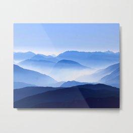 Blue Mountain Horizon Metal Print